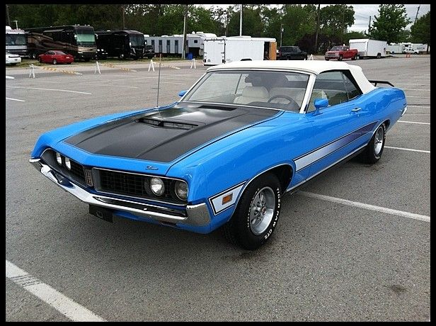 1971 Ford Torino Gt Convertible 351 Ci Automatic For Sale By Mecum Auction Ford Torino Ford Fairlane Ford Motor