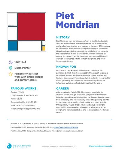 Piet Mondrian FLEX Assessment in 2020 Piet mondrian