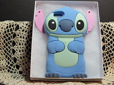 release date eb134 79062 IPhone 5 5S 5C 3D Disney Stitch Soft Silicone Character Case w/Gift ...