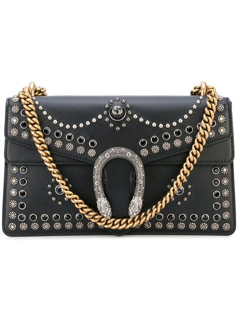 5bda7ab38ae742 GUCCI Dionysus Studded Shoulder Bag. #gucci #bags #shoulder bags #leather  #metallic #crystal #