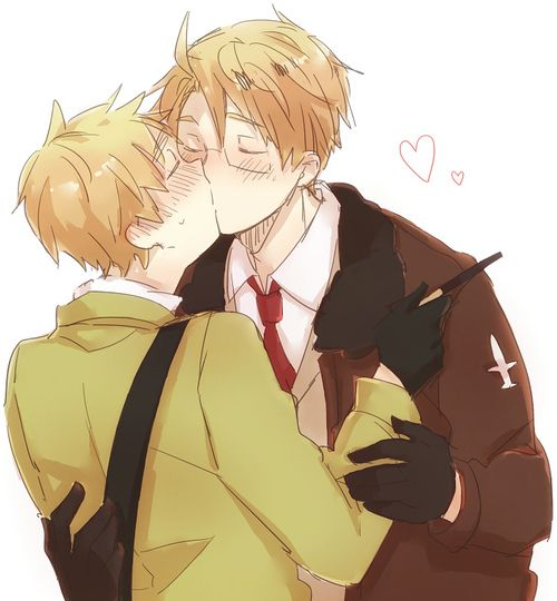 america and england kiss hetalia usuk pinterest