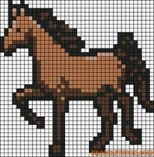 Pixel Art Cheval Facile A Faire