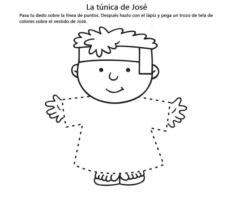 Actividades Para Colorear De José Y Su Túnica José Era Un Niño Que