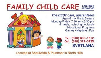 Family Day Care Business Card | Full Color Printing: Business Cards, Postcards, Flyers, Brochures ...