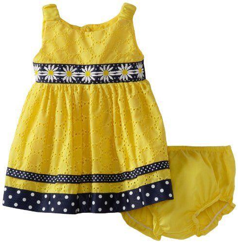 a98fbf688c3 Sweet Heart Rose Baby-girls Infant Daisy Eyelet Dress Sweet Heart Rose