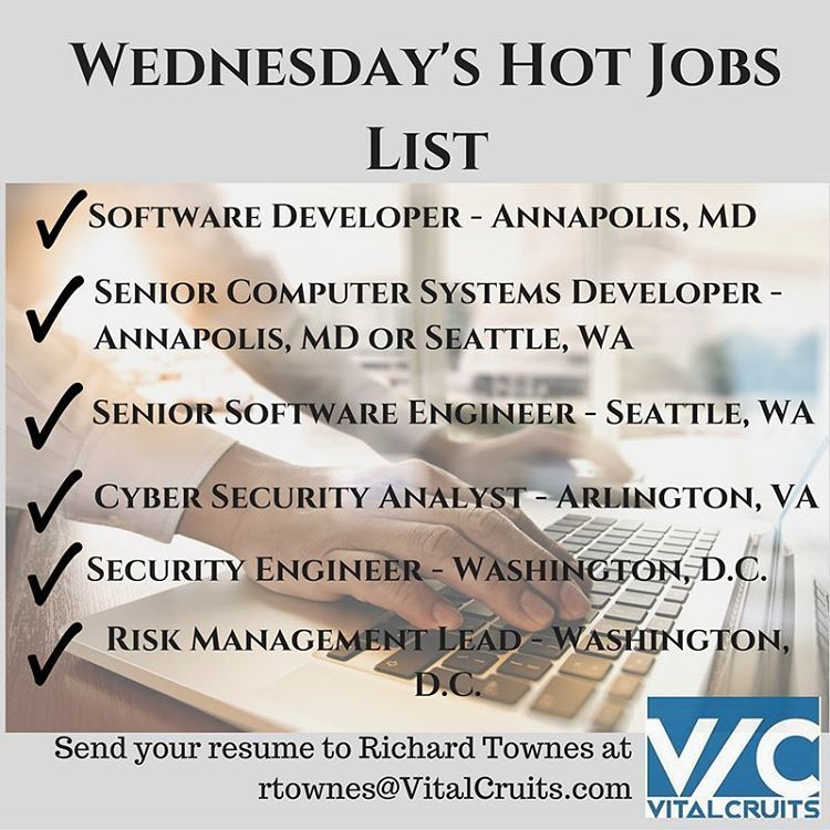Opportunities in Annapolis, MD VitalCruits recruiting firm