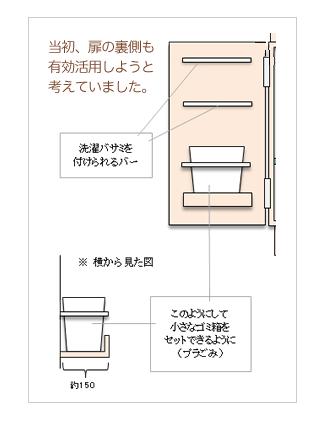 洗面台扉設計図 造作 洗面 家 づくり