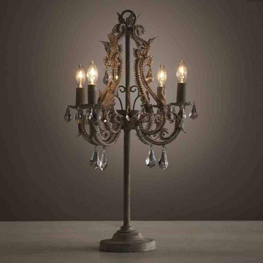 Make A Chandelier Table Lamp Boundless Table Ideas Photos