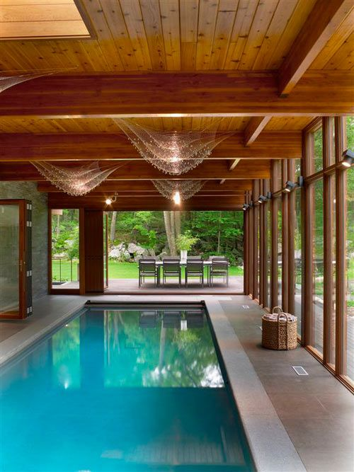 Hudson valley country house by fractal construction new for Indoor pool construction