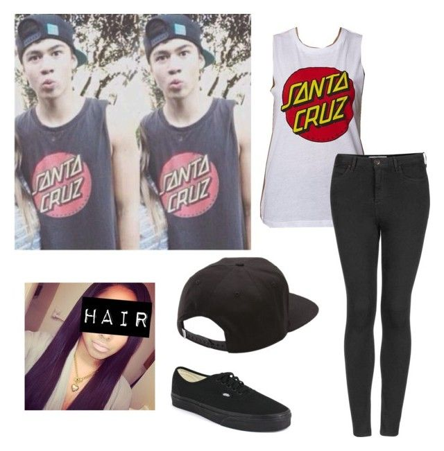 """Calum Hood Inspired Outfit"" by sweatshirt-irwin ❤ liked on Polyvore featuring Santa Cruz Skateboards, Topshop and Vans"