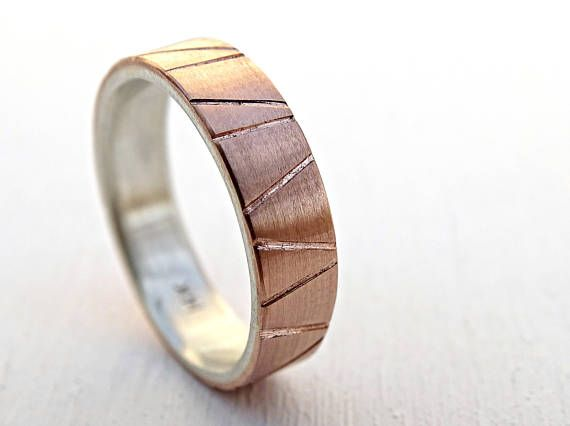 Viking Wedding Ring Gold Mens Wedding Band Two Tone Rose Gold Ring Silver Custom Wedding Band Geometric Personalized Gold Ring Viking Wedding Ring Promise Rings For Guys Wedding Rings