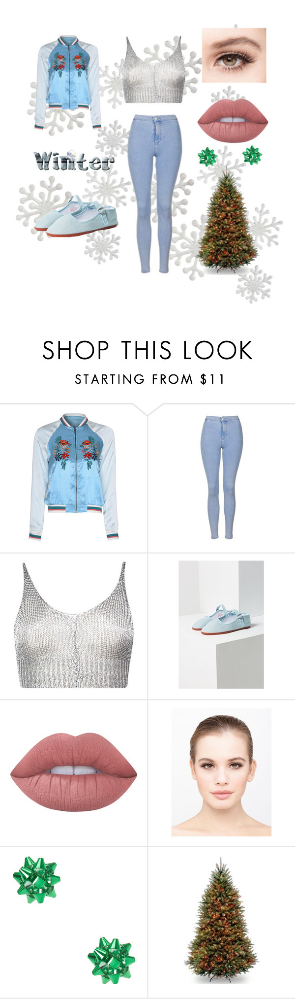 """winter sweater♡"" by wateringflowers ❤ liked on Polyvore featuring Glamorous, Topshop, Boohoo, Urban Outfitters, Lime Crime and eylure"