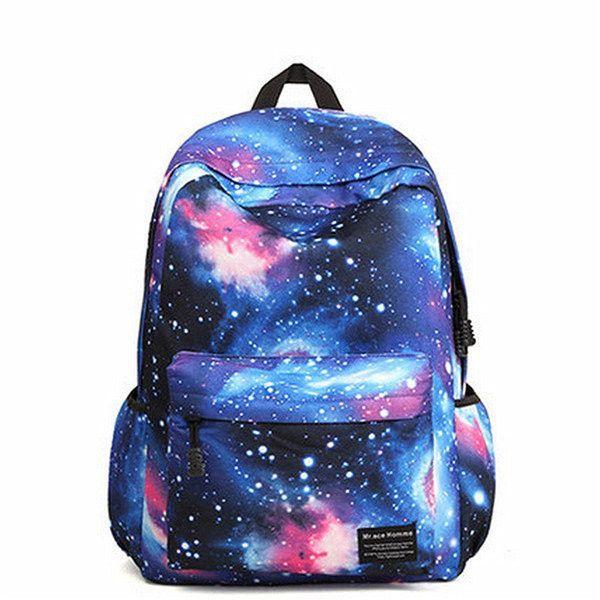 Women Star Dazzle Colour Canvas Backpack