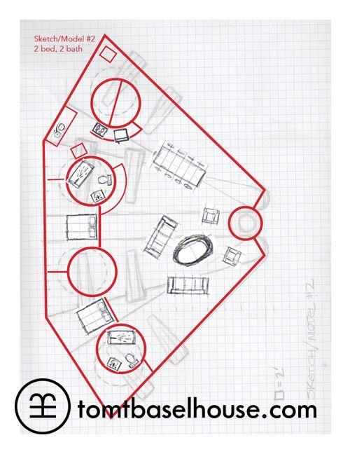 Rodney Allen Trice's Basel House Model 2 - first rough floor plan