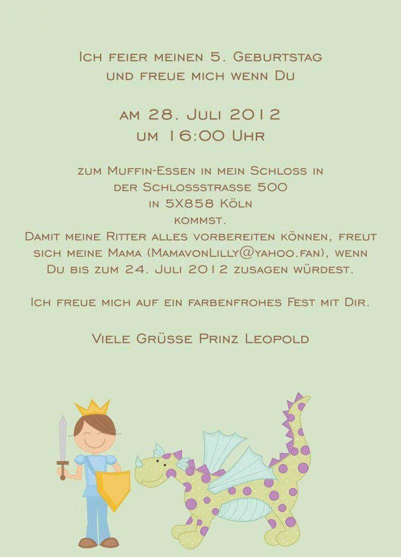 Text Einladung Kindergeburtstag 10 Jahre Kindergeburtstag Einladung