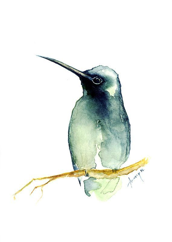 Photo of Watercolor painting watercolor bird painting bird art, animal bird illustration PRINT watercolor artist