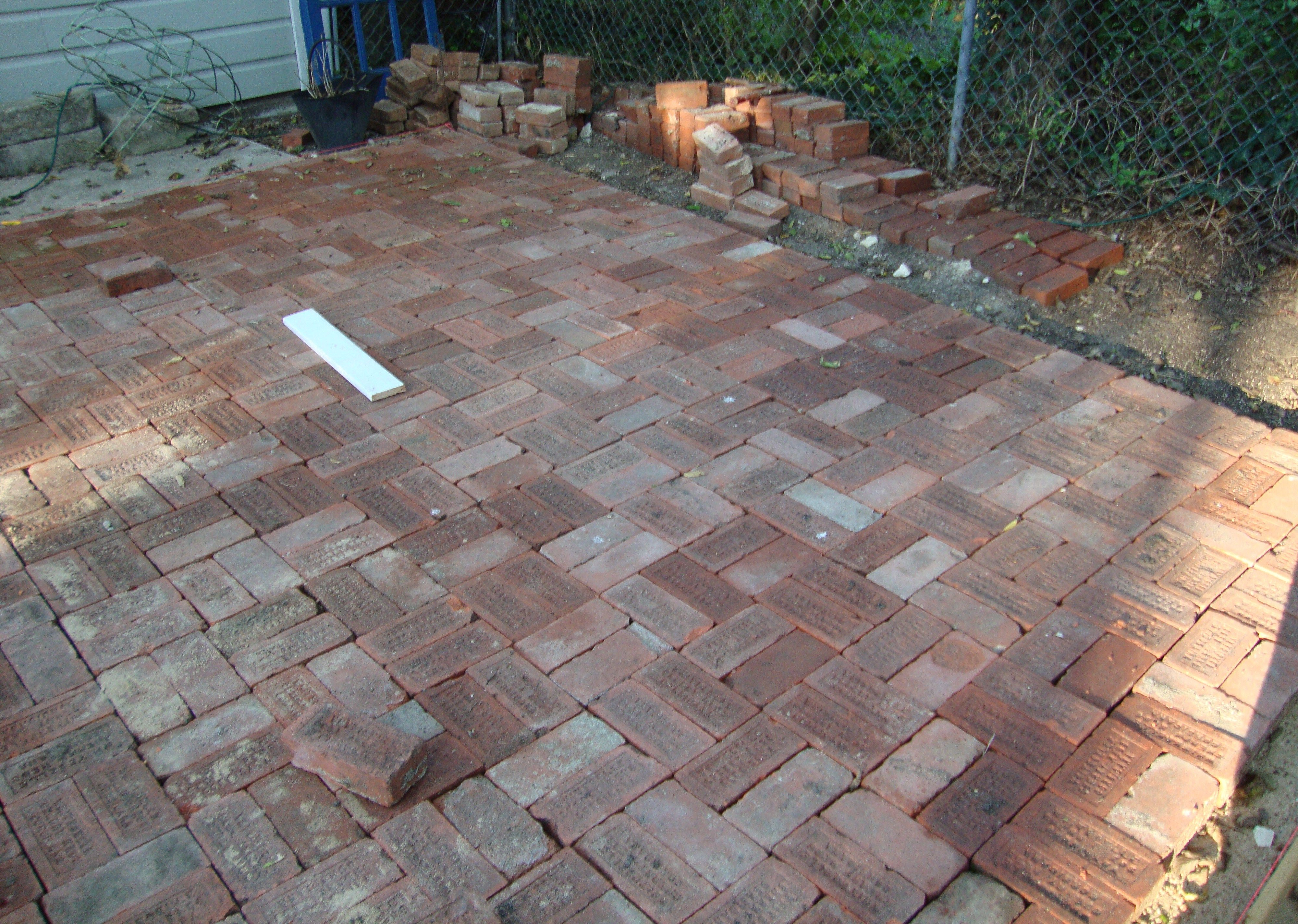 We Unearthed 1700 Bricks And Relayed Them Into The Patio What A
