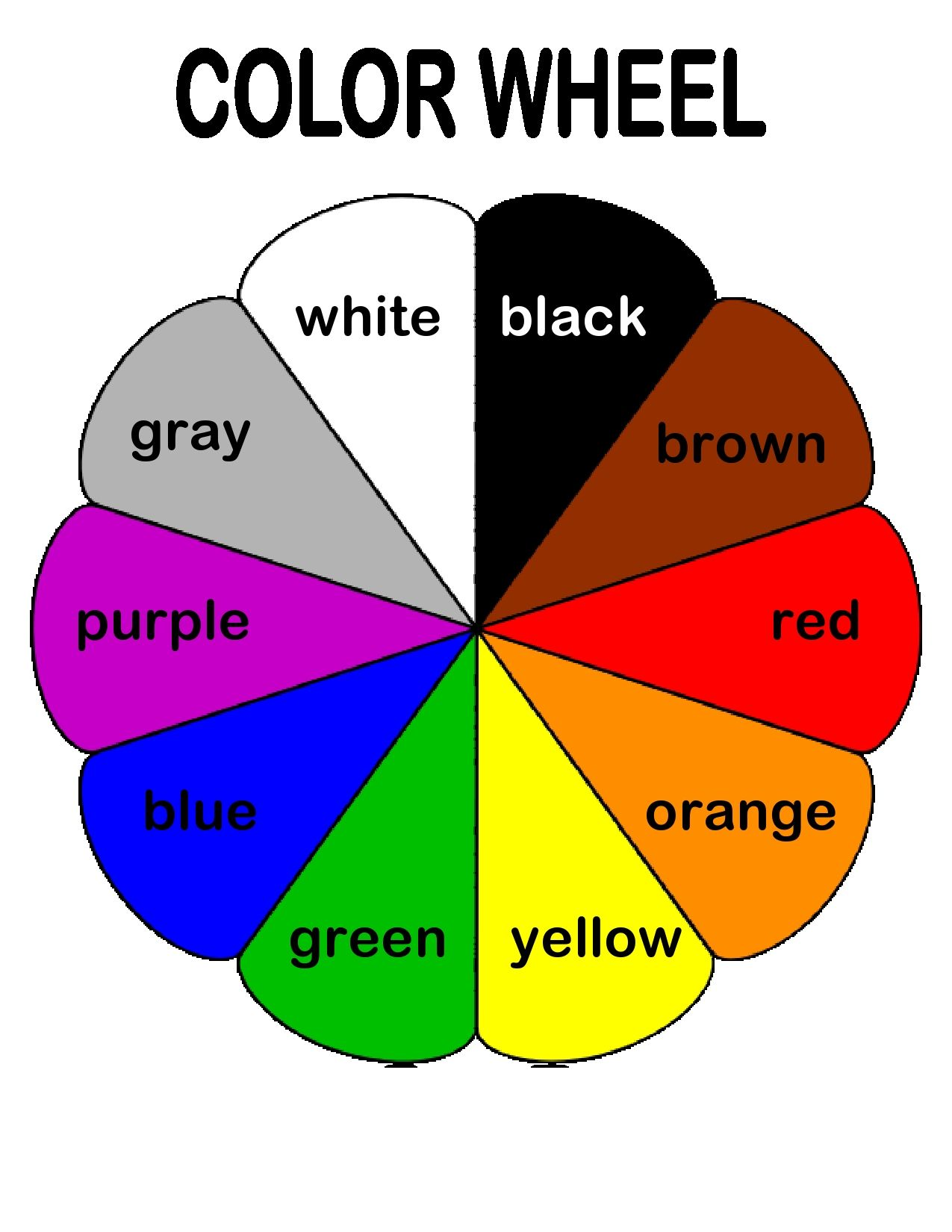 The Color Wheel Helps Preschoolers Associate Basic Colors With Their Names