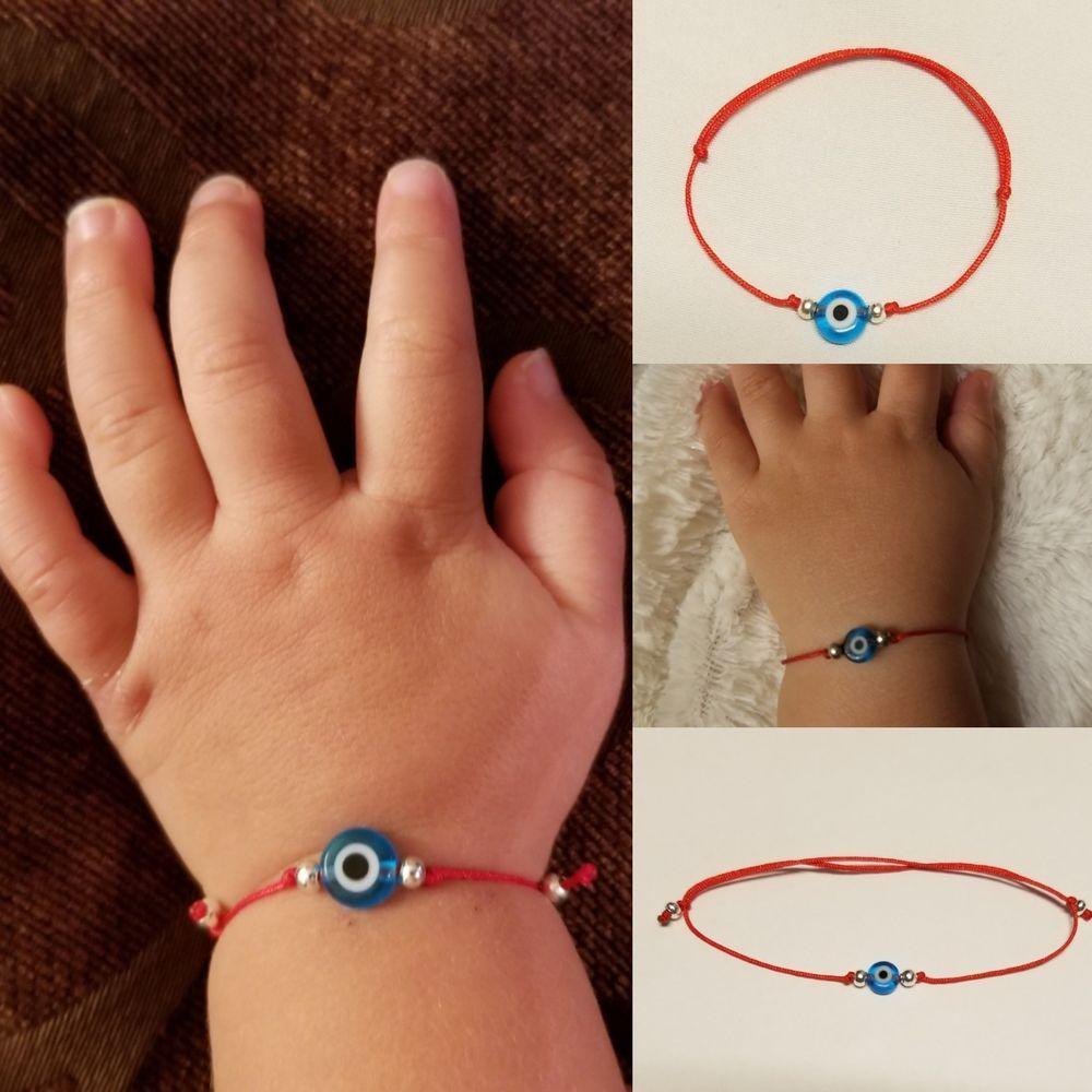 Red string bracelet Heart Love charm Good luck Evil eye Protection Talisman Friendship Macrame cord Baby Children Girl Women jewelry gift