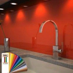 Glas-Küchenrückwand lackiert in RAL-Farbe nach Maß | WOHNEN ...