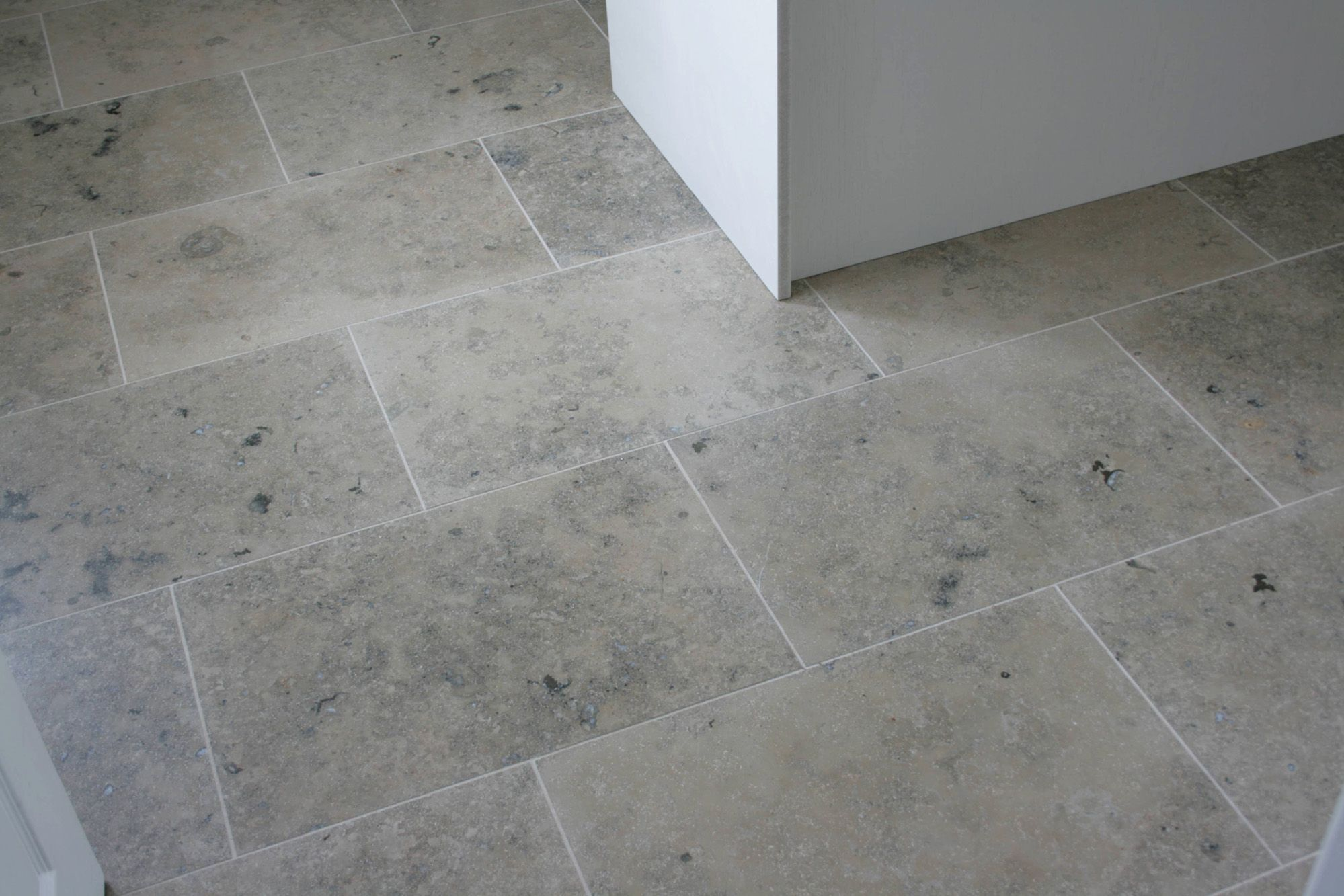 Limestone Or Travertine Tile : Gray floor tile stigler grey honed limestone tiles