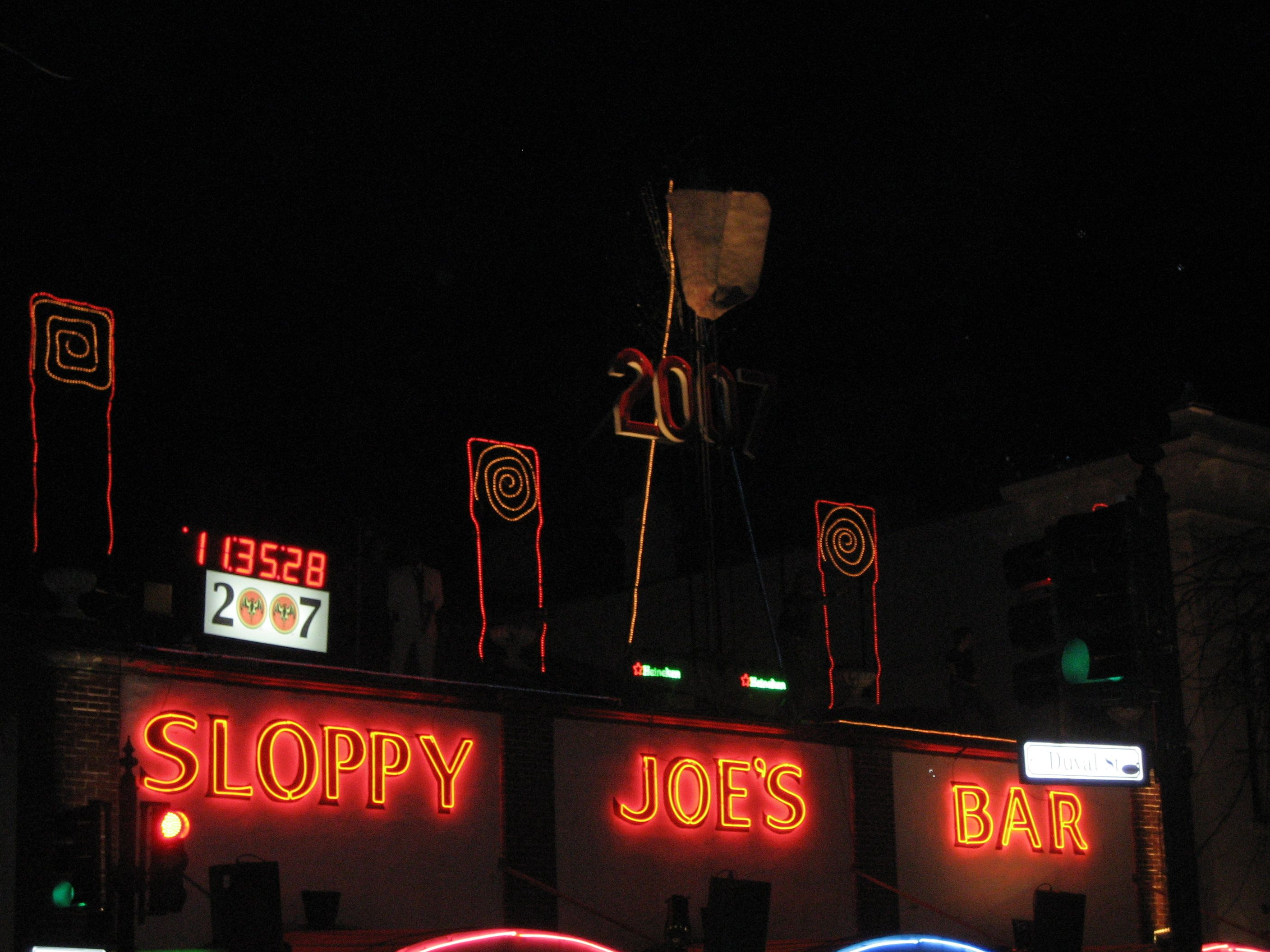 New Years Eve at Sloppy Joe's In Key West watchin'the