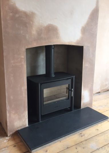 Esse 125 Multifuel Stove With Honed Granite Hearth Granite Hearth Fireplace 1930s Semi Detached House