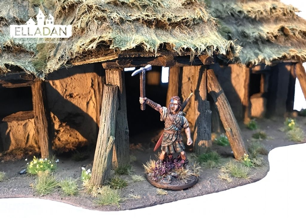 Dark Age Living Hall Dark Ages Thatched Roof Living Hall