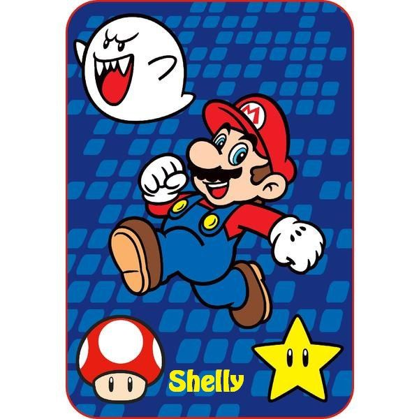 Super Mario Brothers Blanket Minky Fleece Blanket Mario Brothers Throw Blanket