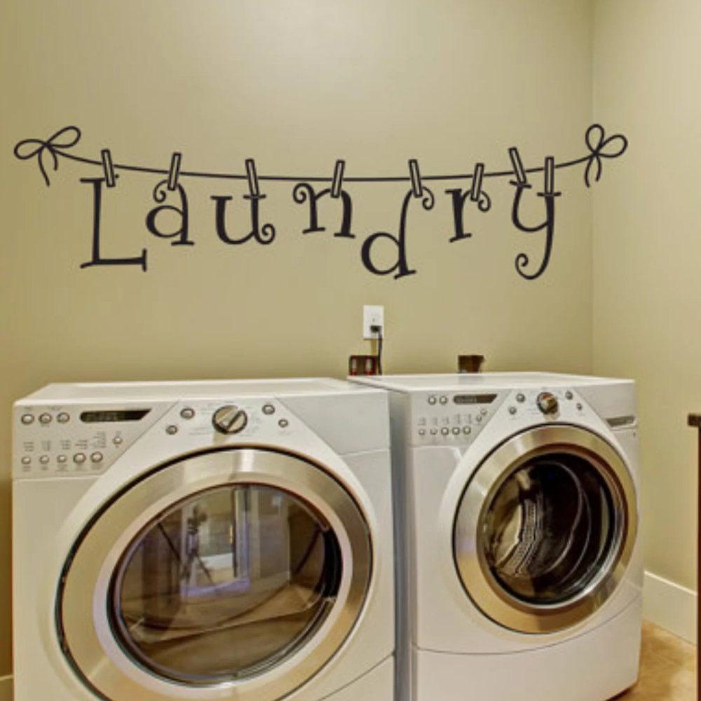Laundry Room Decal In 2020 Laundry Room Decals Wall Decals Laundry Room Signs