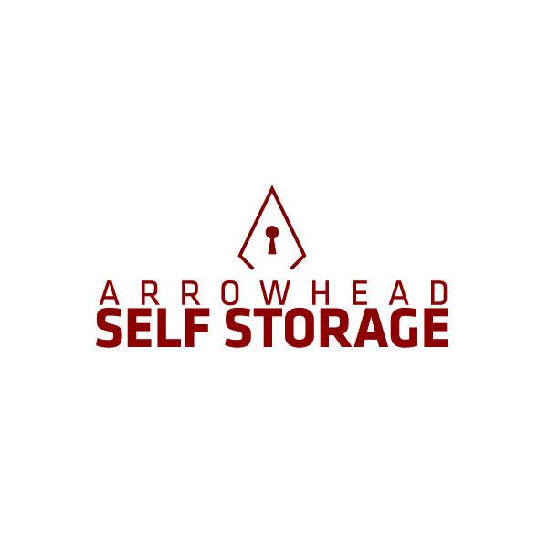 Arrowhead Self Storage Logo Design Red Locking Graphic