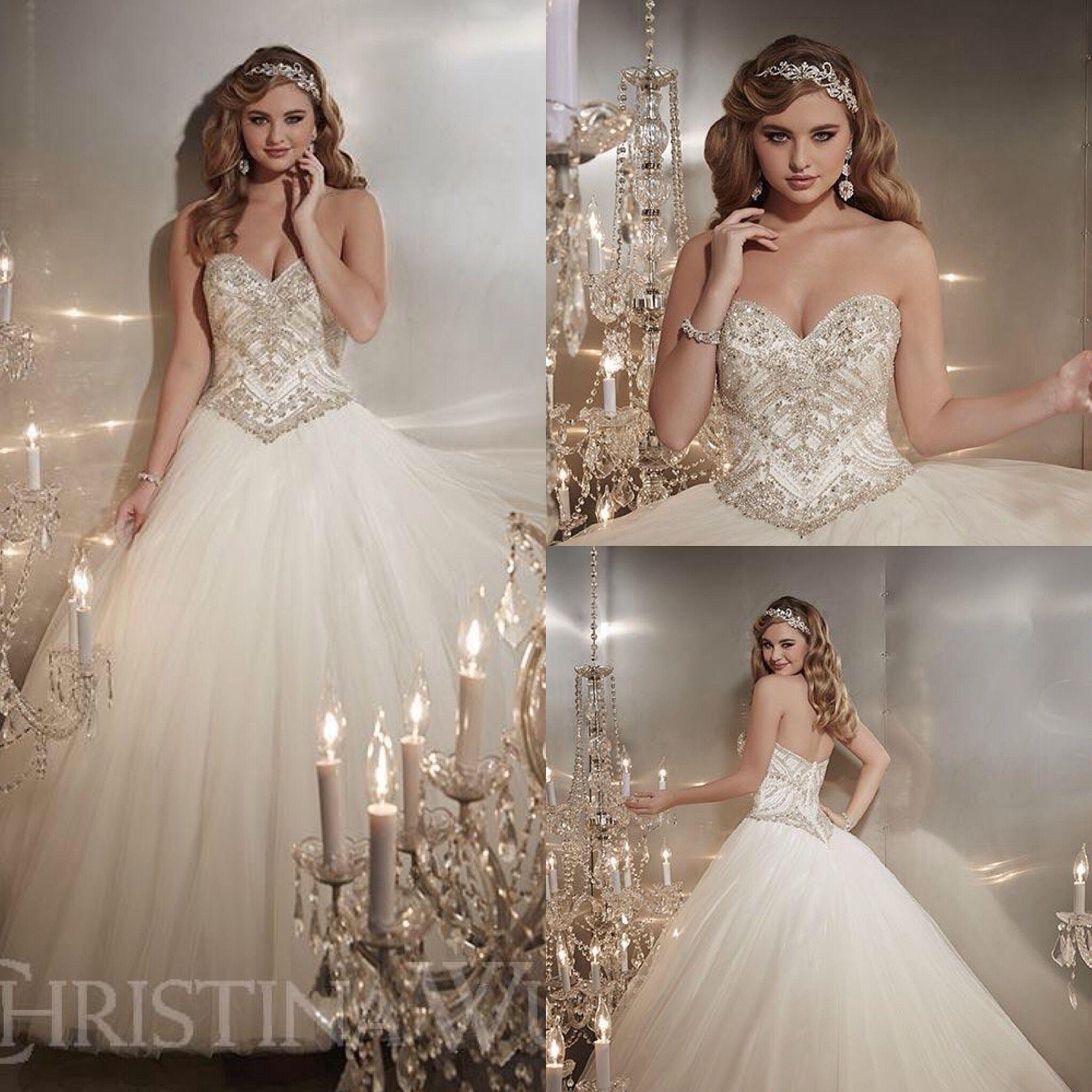 Christina wu wedding dresses  Christina Wu  IvorySilver  Christina Wu Bridal  Pinterest