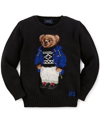 cd3437bea Ralph Lauren Little Boys' Bear-Print Sweater - Kids & Baby - Macy's ...