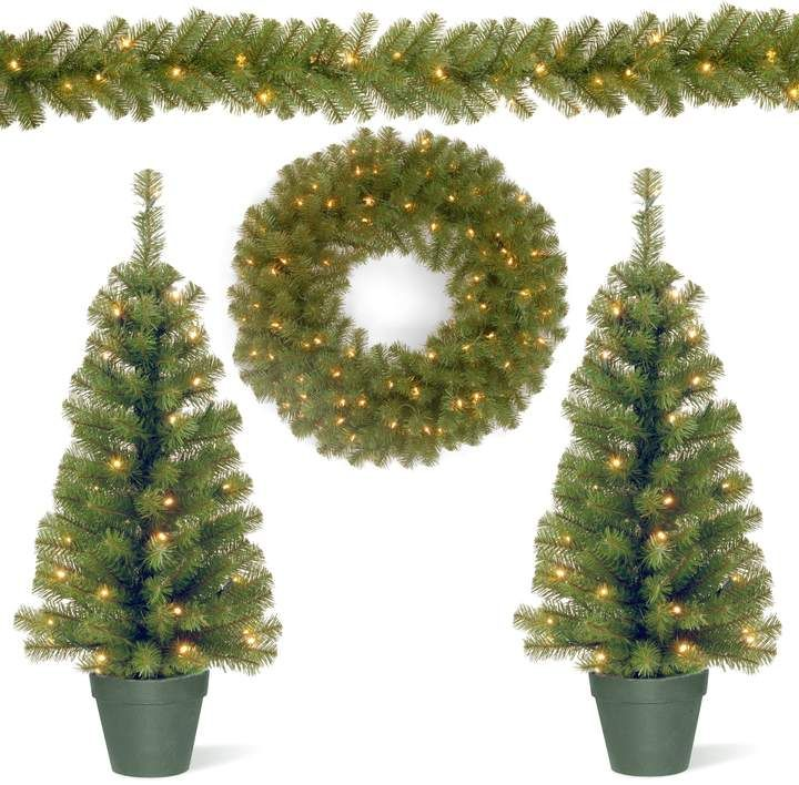 National Tree Company Pre-lit Artificial Trees, Garland  Wreath 4