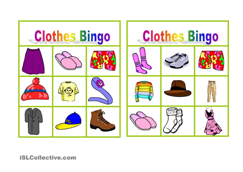 Clothes Bingo Free Esl Worksheets Bingo Bingo For Kids Esl Worksheets [ 1018 x 1440 Pixel ]