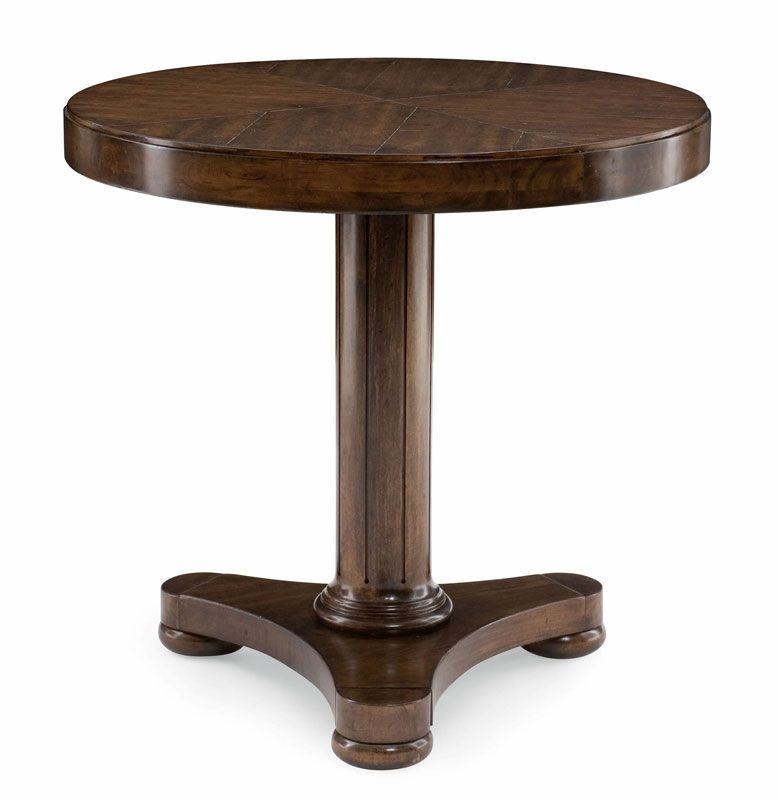 Bernhardt Huntington Round Table | Mahogany Round Side Table
