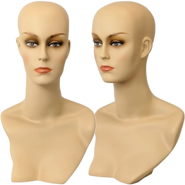 Mn 411 Female Mannequin Head Form With Stylish Neck And Shoulder Mannequin Heads Female Mannequins