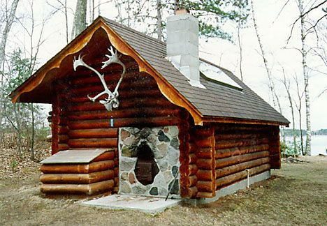 Log Sauna for the hunting shack Finnish sauna, Sauna