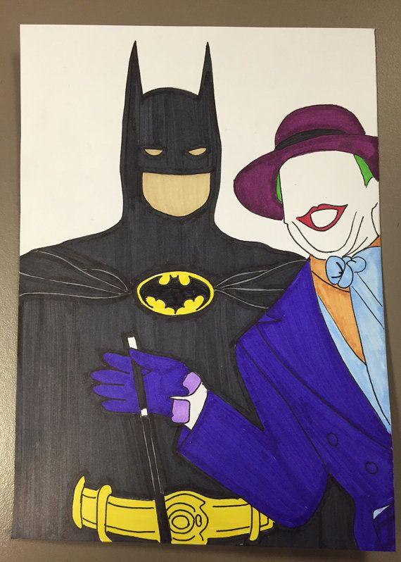 Batman custom handmade batman and joker greeting by increativity batman custom handmade batman and joker greeting by increativity m4hsunfo