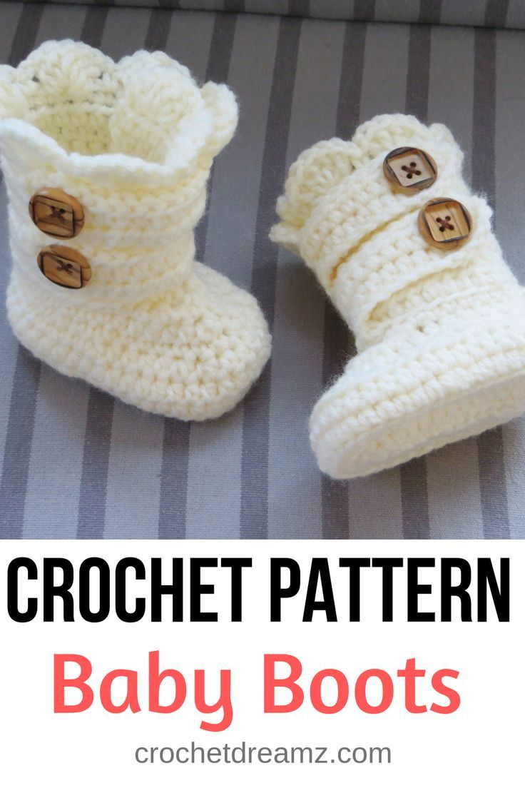 Classic Snow Boots Crochet Pattern for Baby ( pdf pattern ) in 4 sizes now #crochetbabyboots