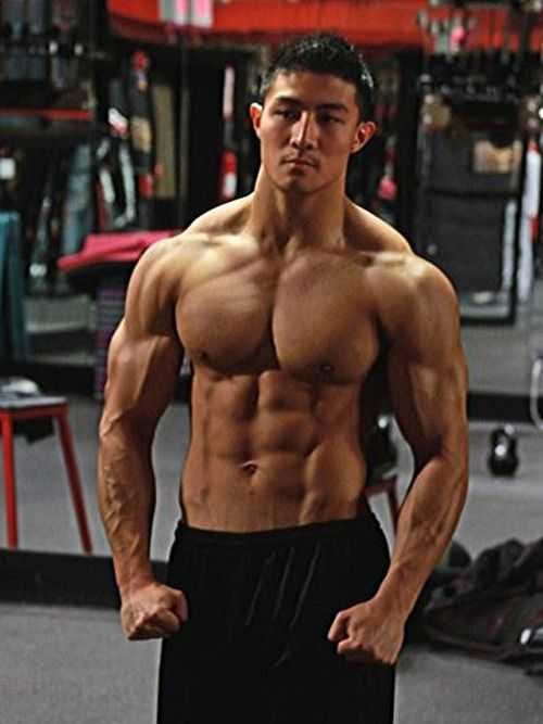 Asian muscle guy
