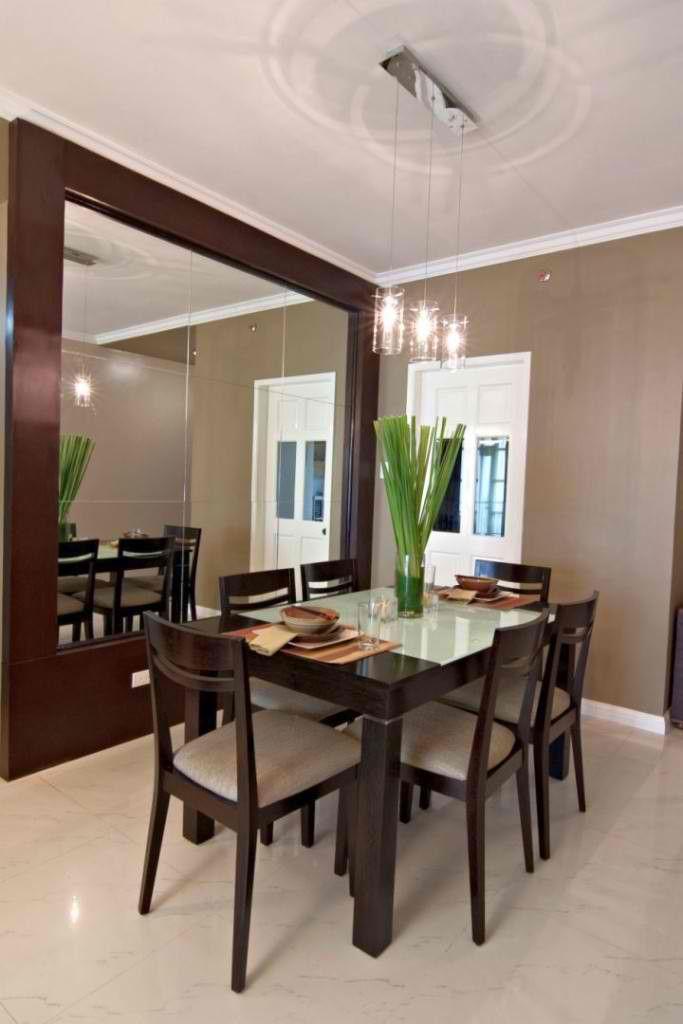 Mirrors In The Dining Area Condo Interior Design Condominium