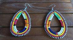 boucles d oreilles africaine tribale en perles : Boucles d'oreille par tresors-du-monde