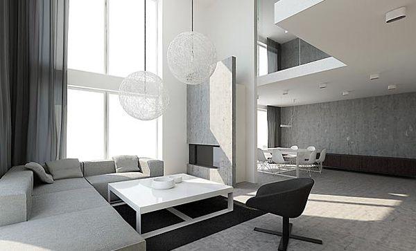 Moderne Lampen 85 : Hinreißende moderne minimalistische wohnzimmergestaltung