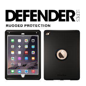 official photos 5e250 8e4cb Amazon.com: Otterbox Defender Series Case for iPad Air 2, Black (77 ...