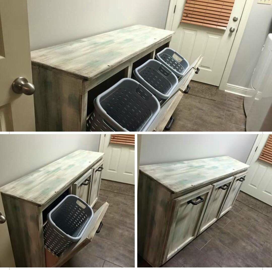 Laundry Room Tables, Laundry Hamper Cabinet Diy