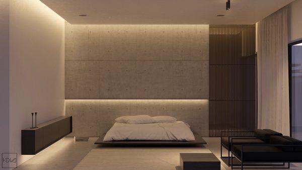 Great 3+Minimalist+Monochromatic+Homes+With+Modern+Lighting