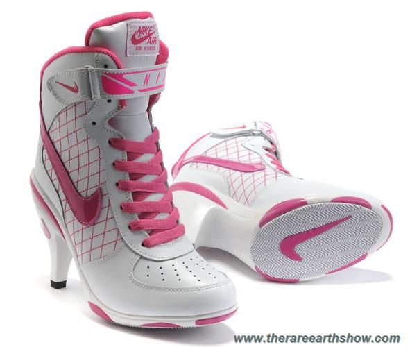 Cheap 2013 Nike Air Force High Heels White Pink For Women, Nike High Heels  We Offer All Kinds Of Nike High Heels Shoes ...