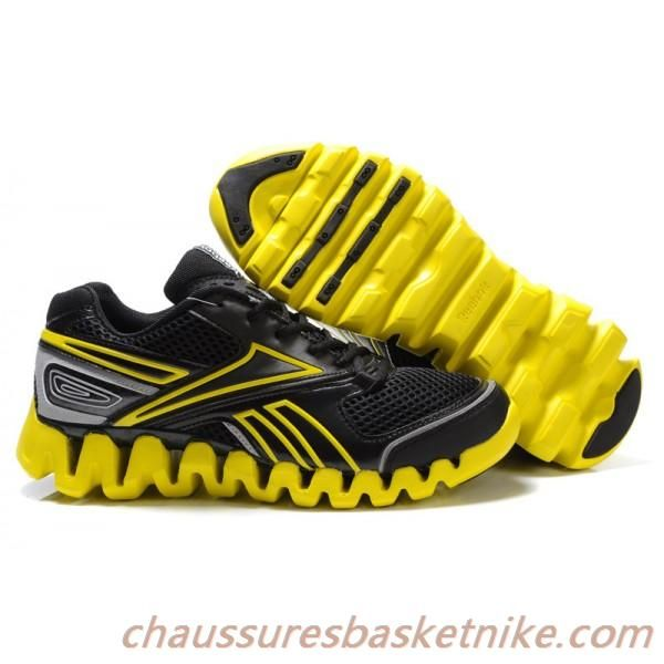 Reebok Zig chaussures hommes de carburant de course Jaune / Noir