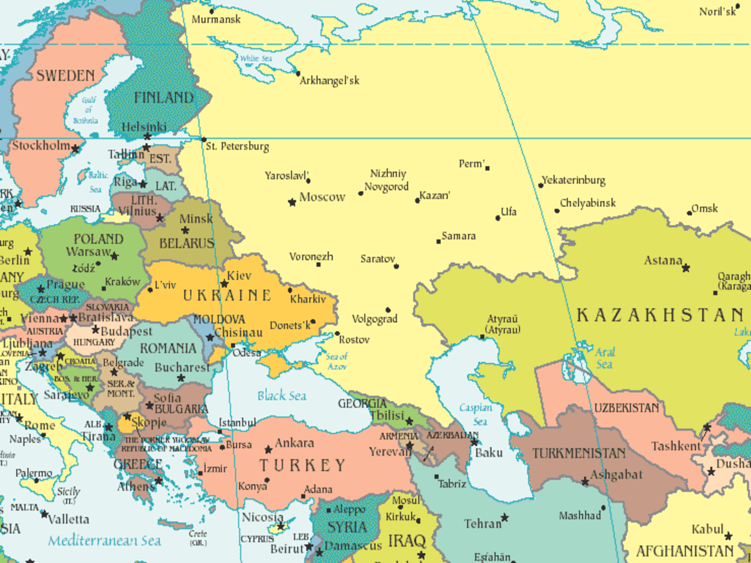 Russia and georgia map | Things to read | Pinterest
